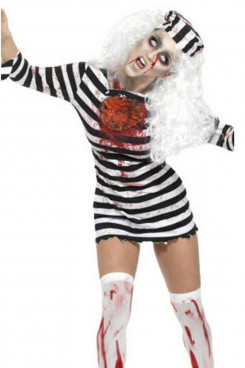 Halloween Costume Simmia Horror Bloody Prisoner with Blood Adult Zombie Play Costumes