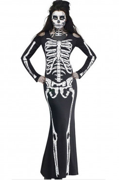 Halloween Costumes European and American Ghost Festival Horror Skeletal Jumpsuit Party Cosplay Costumes free shipping