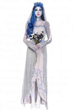 Halloween ghost festival skeleton costume Zombie Cosplay ghost bride costume free shipping