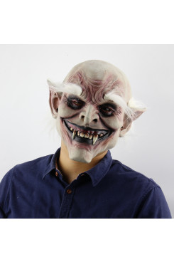 White-browed old demon Costume Mask Vampire Haunted House Evil Killer