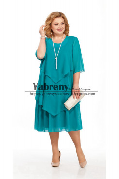 Jade Green Chiffon Mother of the bride Dress for Beach Wedding mps-499-3