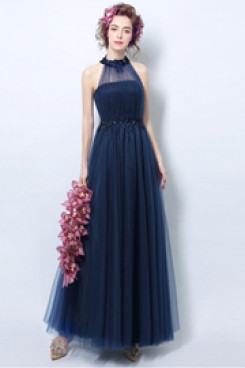 Jewel Empire Prom Dresses Dark Blue under $100 Bridesmaids Dresses TSJY-144