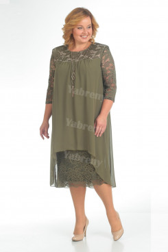 khaki Lace Mother Of The Bride Dress Plus Size Women's Dresses mps-371-4