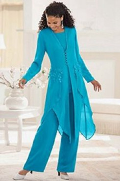 Light Sky Blue modren pants sets Fashion prom dress mps-220