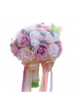 bright Lilac and pink Gorgeous wedding bouquets for bride and bridesmaids