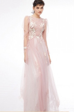 Long Sleeves New Style Pearl Pink under $100 prom Dresses cyh-004
