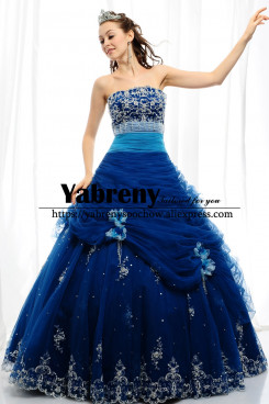 Lovely Royal Blue Quinceanera Dresses Ball Gown so-253