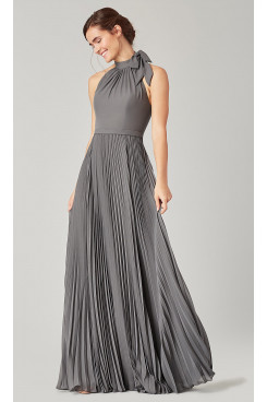 Mineral Gray Bridesmaids Dresses Accordion Pleats so-281