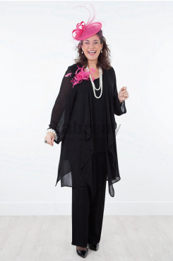 Modern Loose Mother of the bride Pant Suits Three outfits mps-033