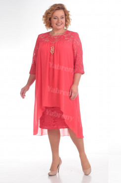 Mother Of The Bride Plus Size Dress Watermelon Red Women's Dresses mps-371-5