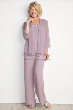 New arrival Mother of the bride pant suit Chiffon 3PC Trousers outfit mps-278