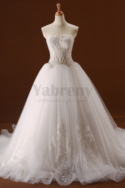 New Styel Chest Appliques Glamorous A-Line Appliques Wedding dresses