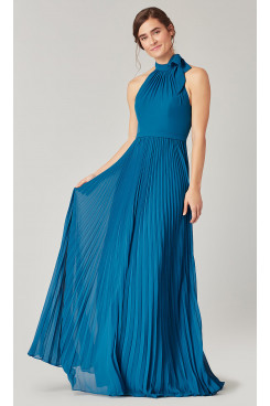 Ocean Blue Bridesmaids Dresses Accordion Pleats so-273