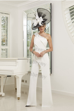 One Shoulder Ivory Mother of the bride jumpsuit mps-305