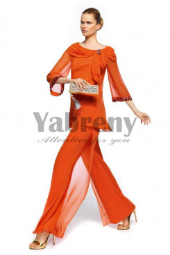 Orange Fashion sping prom dress pants sets so-071