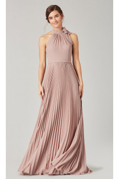Pearl Pink Bridesmaids Dresses with Pleats so-269