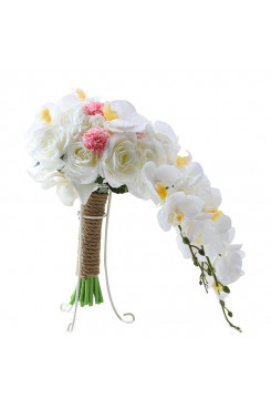 Phalaenopsis flower waterfall for Bridesmaid Bouquet