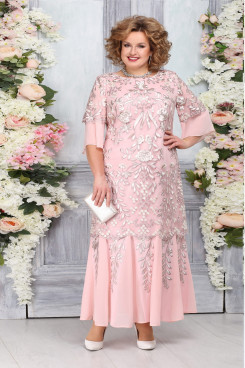 Pink Lace Mother of The Bride Dresses, Plus size Ankle-Length Women's Dresses mps-474-2