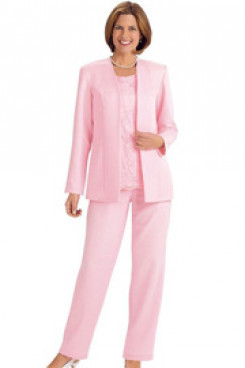 Pink Mother of the bride pantsuits women's outfit mps-169