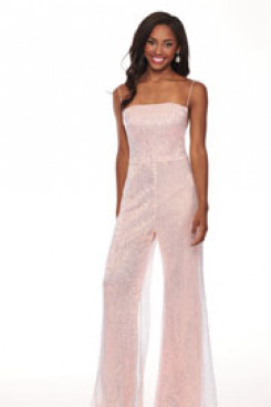 Pink Spaghetti Sequins Cocktail Jumpsuits Dresses so-178