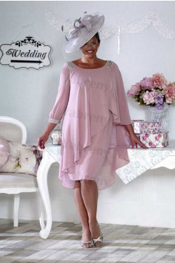 Plus size Bean Paste chiffon Mother of the bride dress mps-331