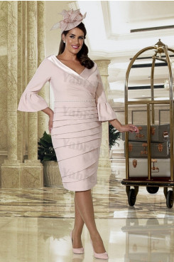 Plus size Blushing Pink Mother of the bride dress mps-341