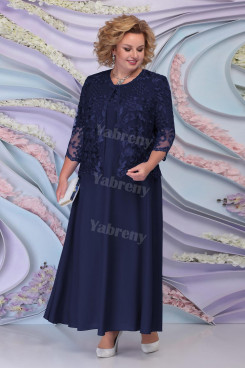Plus Size Dark Navy Mother of the bride dresses Women's outfit mps-443-5
