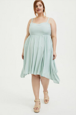 Plus Size Empire Women's Dresses, Knee-Length Modern Dresses mps-399
