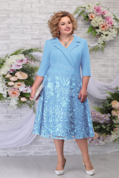Plus Size Sky Blue Mother Of The Bride Dress Occasion DreesyWomen's Dress mps-461-3