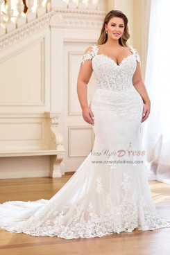 2020 New style Plus Size Trumpet Wedding dresses with Train Wd-035