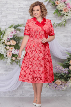 Red Lace A-Line Mother of The Bride Dresses Plus Size Women's Dress mps-465-1