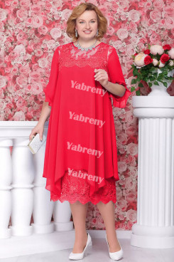 Red Loose mother of the bride Dresses cheap Plus Size Dress Outfits mps-365-1