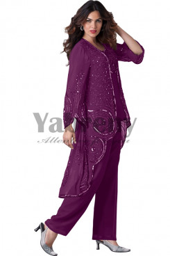 Regency beaded mother of the groom pants suit mps-070