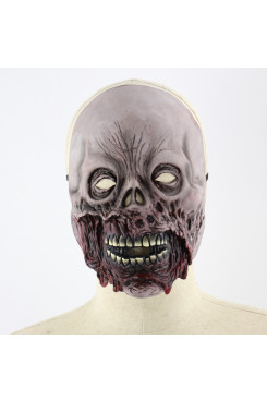 Rotten mouth zombie Halloween mask up props horror latex mask realistic latex masks