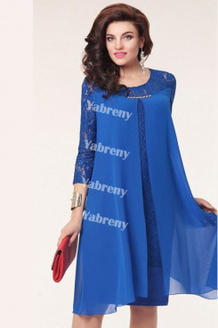 Royal Blue under $100 Loose Mother Of The Bride Dresses mps-375-1