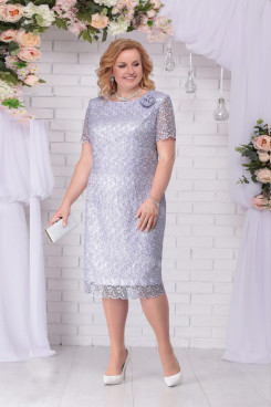 Silver Gray Lace Mother of The Bride Dresses, Plus size Ankle-Length Women's Dresses mps-472