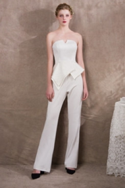 2020 New arrival Italian satin Wedding Jumpsuits Suits so-035
