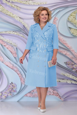 Sky Blue Mother Of The Bride Dress Special Occasion Plus Size Women's Dress mps-460-5
