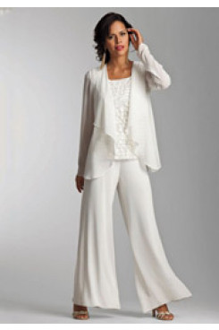 Spring Modern Mother of the bride pants suit with jacket mps-234