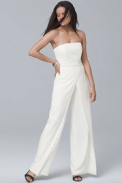 Strapless Bridal Jumpsuits for Summer Wedding so-143