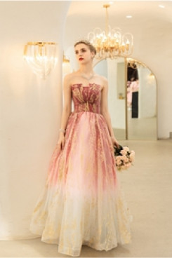 Strapless Discount Favorable Comment Charming prom dress TSJY-077