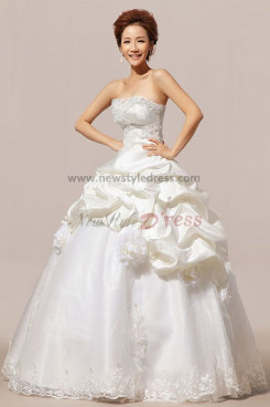 Chest Feathers Ruffles Ruched Mermaid Wedding dresses wd-014