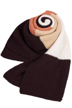 Stylish British Wind Oversized Autumn Winter Plaid Scarves Chocolate Champagne and Ivory