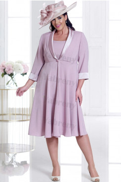 Bean Paste 2 piece Plus size Mother of the bride dress With Jacket mps-346
