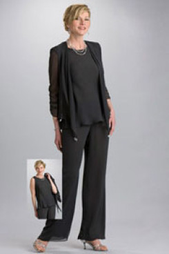 Under $100 Three Piece  mother of the bride pants set mps-261
