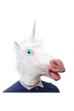 Unicorn Head Masks Animal Mask Costume Prop for adults