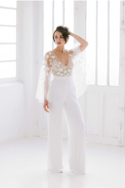 V-neck Fashion Lace Wedding dress Jumpsuits so-217