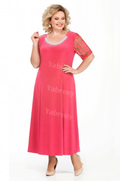 Watermelon Plus Size Women's Dresses Ankle-Length Mother of the Bride Dresses mps-458-2