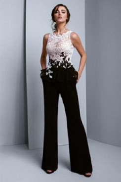 White and black Cocktail Jumpsuits Prom dresses so-182
