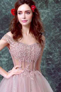Yabreny Hand Beading Pearl Pink New Style Homecoming Dresses cyh-030